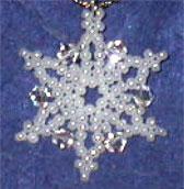 Seed Bead & Crystal Snowflakes
