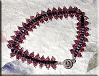 Purple Hex & Crystal Bracelet