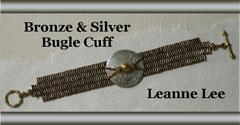 Bronze & Silver Bugle Cuff