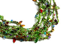 Snazzy Bead Crochet Chain Necklace