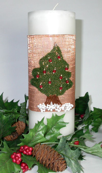 Copper Mesh Candle Wrap