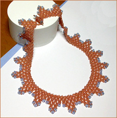 Copper Sky Seed Bead & Crystals