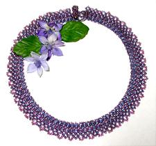 Double Daisy Seed Bead Collar