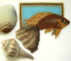 Brown Tropical Fish Pin