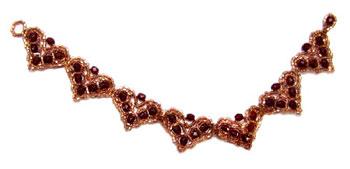 Garnet Hearts Bracelet