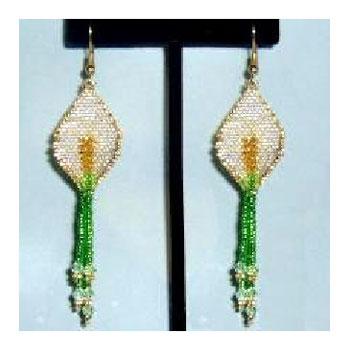 Peace Lily Earrings