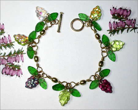 Grape Swivel Bracelet