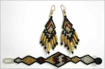 Hex Diamonds, Earrings & Bracelet
