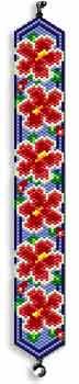 Hibiscus Peyote Bracelet