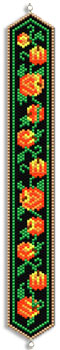 Pumpkin Vine Peyote Bracelet