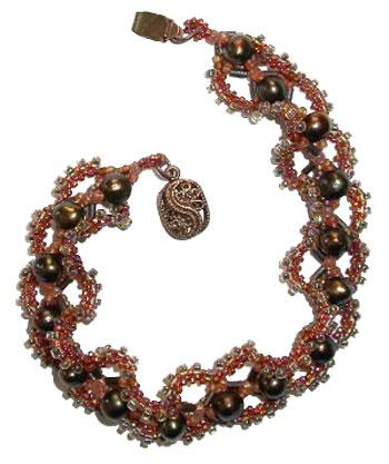 Swirling Pearls Bracelet