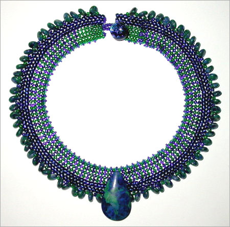 Graduated Seed Bead Collar