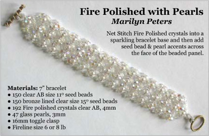 Fire Polished with Pearls Bracelet