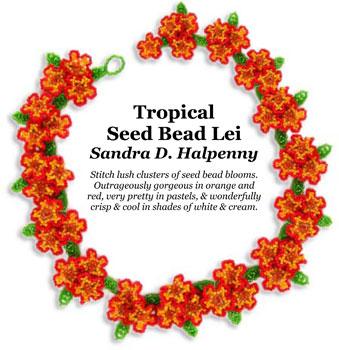 Tropical Seed Bead Lei