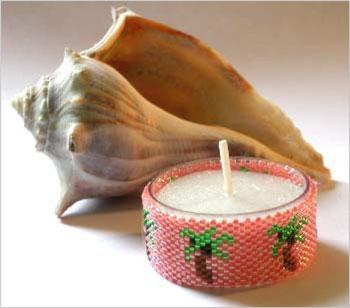 Coconut Palm Tea Lights