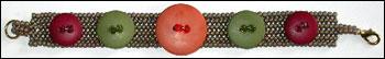 Fall Herringbone Buttons Bracelet