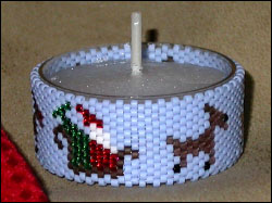 Santa's Flight Tea Light Cover