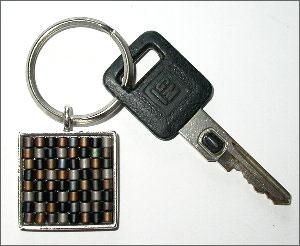 Tweed Keychain Fob