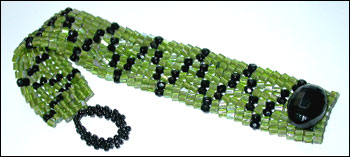 Crystal Hex Herringbone Bracelet