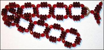 Garnet Links Bracelet
