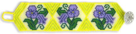 Springtime Violets Bracelet