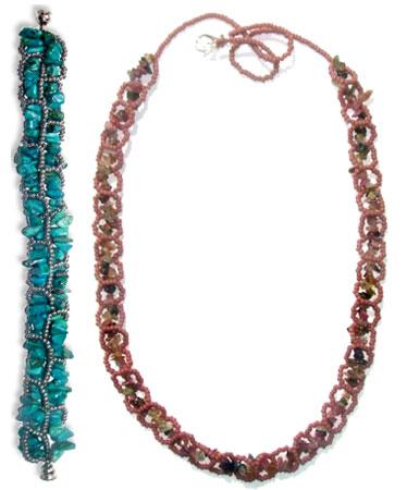 RAW Chip Necklace & Bracelet
