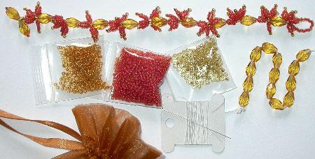 Bead Kit for the Japanese Maple Leaves Bracelet
