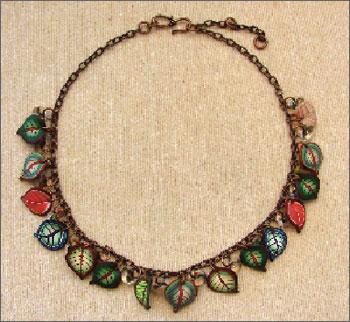 Copper & Leaf Necklace Kit