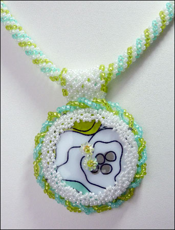 Abstract Floral Necklace