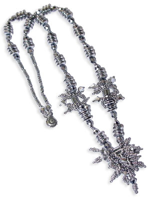 Silver Clusters Necklace