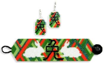 The Year of the Rabbit, Bracelet & Earrings