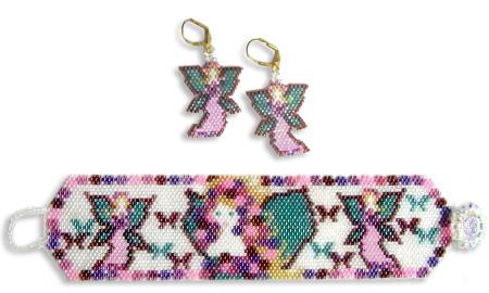May Faeries Earrings & Bracelet