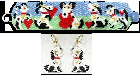 Puppy Love Bracelet and Earrings
