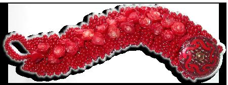 Red Ruffle Bracelet