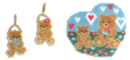 A Beary Happy Mother's Day, Earrings and Pendant