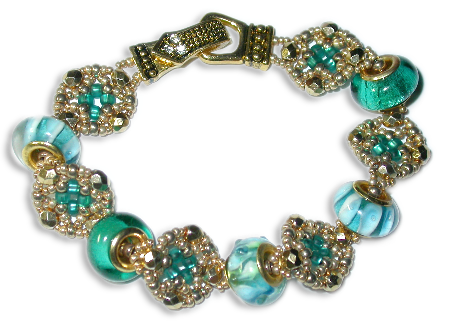 Large-Hole Beads & Seed Bead Medallions Bracelet or Necklace
