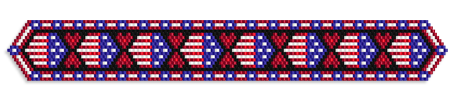 Hearts & Flags for Memorial Day, Bracelet or Bookmark