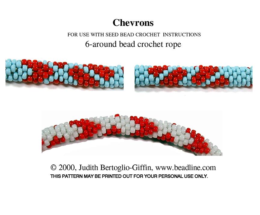 Bead Crochet Chevrons Patterns Sova Enterprises