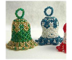 Beaded Christmas Ornaments Patterns.Christmas Bell Ornament Sova Enterprises