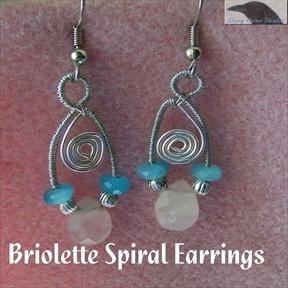 Free Crochet Spiral Earrings Pattern : Briolette Spiral Earrings, Sova Enterprises
