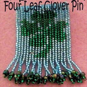 Four Leaf Clover Pin, Sova Enterprises
