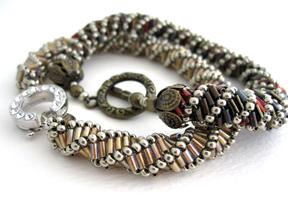 bugle bead bracelet instructions