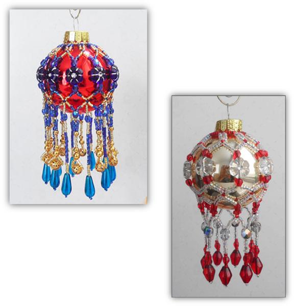 Fringe Beaded Mini Christmas Ornament Cover [00018584] - Fringe Beaded Mini Christmas Ornament Cover, Sova Enterprises
