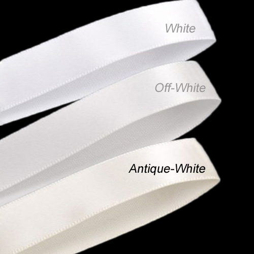 2 Double Faced Satin Ribbon 3 Yards Antique White 00024308
