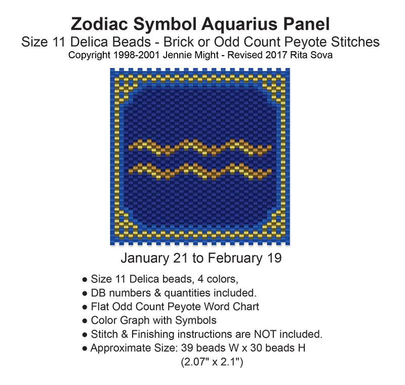 Zodiac Symbol Aquarius Panel Sova Enterprises