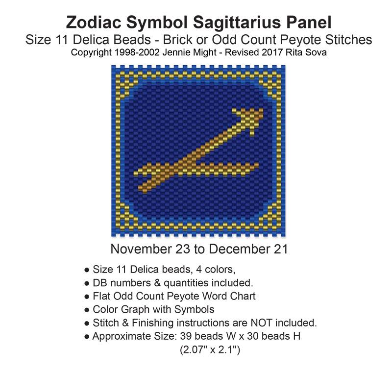 Zodiac Symbol Sagittarius Panel Sova Enterprises