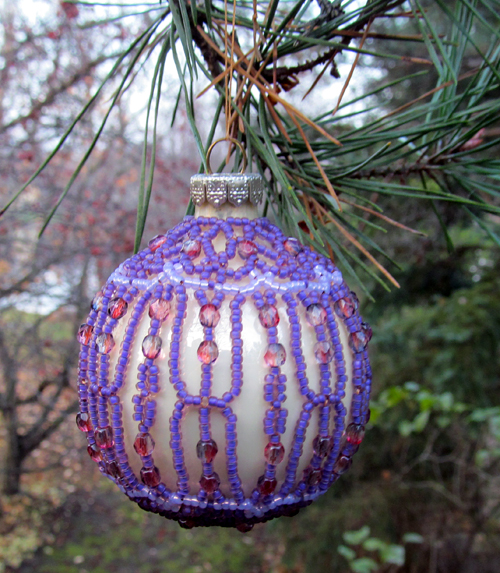 Beaded Christmas Ornaments Patterns.Christmas Ornament Cover Sova Enterprises