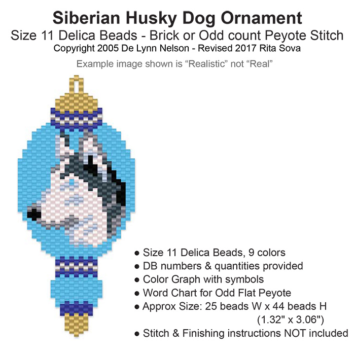Siberian Husky Dog Ornament Sova Enterprises
