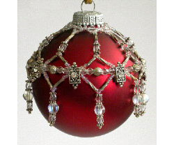 Crystal Slider and Seed Bead Ornament cover