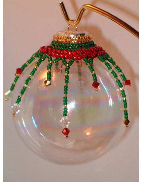 Beaded Cap Fringe Ornament